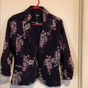 XOXO floral pinstripe blazer